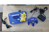 Rare Nintendo 64 Pokemon Pikachu Edition Swap PS4 / Xbox 1 / Wii U