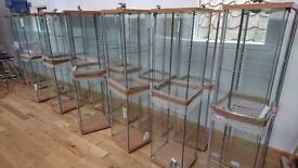 Glass Display Cabinet with light fittings
