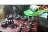 RC crawler gmade sawback jeep parts all vgc