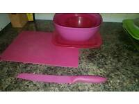 Kitchen pink set