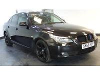 2009 58 BMW 5 SERIES 2.0 520D SE 4D 175 BHP DIESEL BLACK MOT 06/02/2017 2 OWNERS