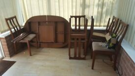 Extendable Dining table with 6 chairs (Must be sold by Friday 25th may!)