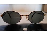 B&L RAY BAN W2188 G15 GOLD/TORT SIDESTREET OVAL CROSSWALK SUNGLASSES