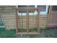 Georgian solid mahogany sash window frames