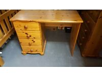 Solid pine dressing table 4 drawer