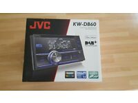 JVC KW-DB60 DAB car stereo used for 2 days & 2 x integrator 6 triaxial speakers