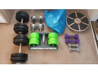 Various exercise equipment items