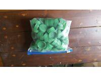 Green Plastic Caps / Tops (Packs Of 100)