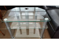 Clear Glass TV Stand - 3 Shelf - Perfect Condition