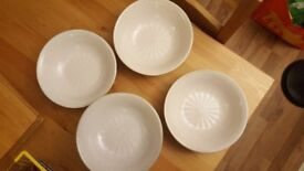 x6 white terracotta style cereal / soup bowls
