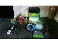 Aqua 40 fish tank and lots of accessories