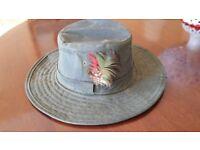 Waxed hat -