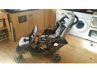 graco stadium double buggy £15