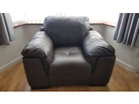 Brown Leather armchair £35 L4