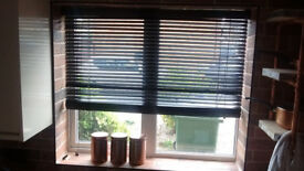 Venetian Wooden Blinds Premier Black (135 x 96cm) BRAND NEW
