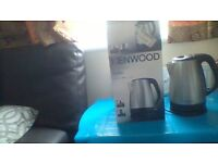 Used but fully working stainless steel Kenwood kettle for sale with box