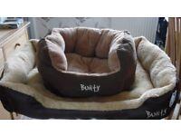 2 Bunty Dog Beds 1 Small size & 1 Extra Large