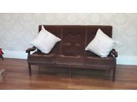 Vintage 3 seater sofa and 2 armcahirs
