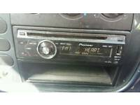 Pioneer car stero & 2 speakers