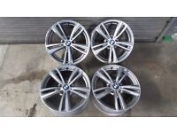 """4x Genuine BMW M Sport 19"""" Style 442M 4/3 Series Staggered alloy wheels"""