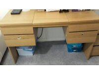 Ikea dressing table with mirror RANSBY Oak veneer