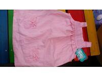 bnwt beautiful girls pink designer dress 18-24 months summer