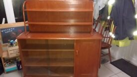 Retro Ercol style sideboard and display cabinet