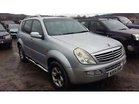 breaking ssangyong rexton 2.7 turbo diesel 4x4