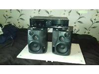 Pioneer Amp + Aiwa Speakers
