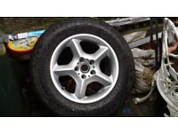 BMW X5 Spare wheel and good tyre