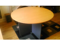 Circular beech office / meeting table for sale