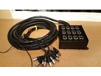 10 metre, 12 channel Audio Snake, never used