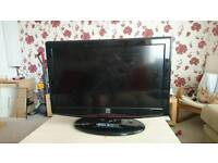 "32"" foehn & hirsch tv with built in dvd player"