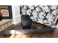 Sony sound bar and subwoofer with remote
