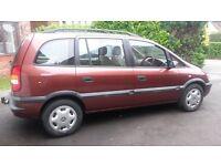 Vauxhall Zafira 1.8 Comfort 2002 Drives Well, Full MOT, FSH