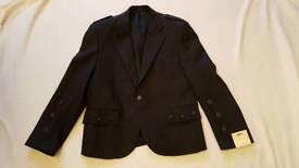 Grey Tweed Argyle Kilt Jacket and Waistcoat