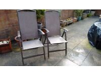 Reclining Multi Position Garden Chairs