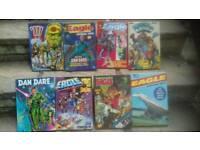 Vintage annuals 2000AD EAGLE Dan Dare