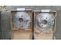 FORD ESCORT MK4 DISCS AND BRAKE PADS SET