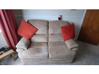 2 seater sofa and electric recliner chair