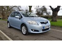 TOYOTA AURIS TR 1.6 PETROL 07 PALTE 2007 ONE PREVIOUS LADY OWNER 114000 MILES FULL SERVICE HISTORY