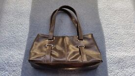 F&F Dark Brown Handbag, Shoulder Handbag, Zips, Good condition, Contact me soon as, Cheap price £4