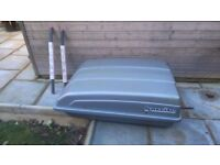 Karrite roof box, 350 litres; rarely used; with roof bars. £85.00 or n.o.