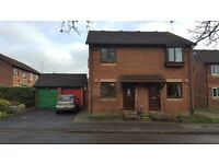 Spacious two double bedroom house with garage, private driveway and rear garden offered unfurnished.