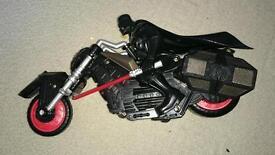 Darth Vader on motorbike