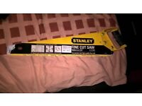 stanley fine cut saw 500mm/20in 11tpl, and B&Q garden steel pruning shears for £6