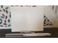 Single Panel 800 x 600 Wickes Radiator with Conversion Kit