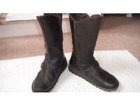 Fly London Mes 2 Dark Brown Boots - Size 5 (Very Good Condition)