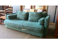 Teal blue 2 seater sofa