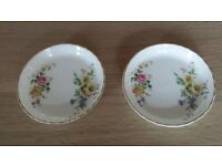 2 Identical trinket trays fine bone china